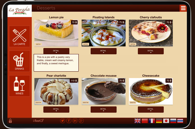 Communication optimized with clients of restaurants